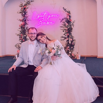 I Got You, Babe neon signage for wedding personalized light signs custom led neon lights
