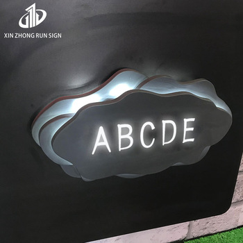 backlit acrylic signs coffee led sign board lighting