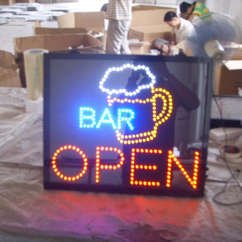 Custom advertising display open led sign