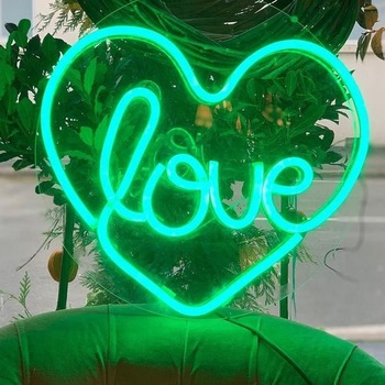 Custom heart shape art wall led neon sign