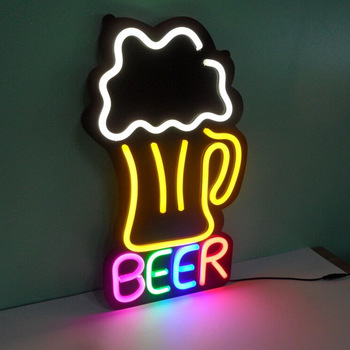 China Custom Injection Led vivid led neon flex  neon beer signs