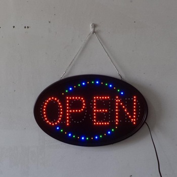 Large Jumbo Size LED Open Closed Sign with Business Hours Sign Ultra-Bright 23x14cm Electronic Advertisement Display Window