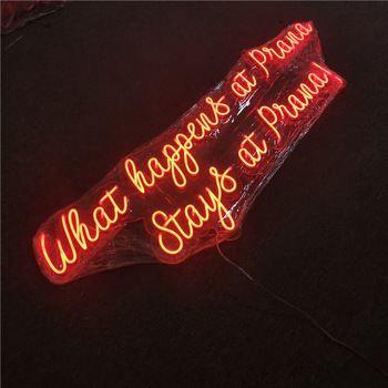 indoor use colorful led lighted flexible neon signs business