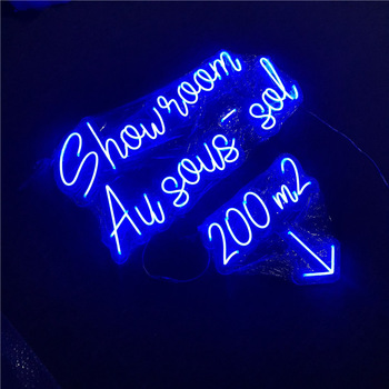 Indoor and outdoor Led Lighted flexible neon led sign custom