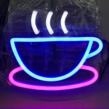 Custom Neon Sign Advertising Acrylic Letters LED Neon Sign Cafe