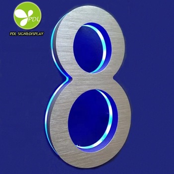 Outdoor Backlit Morden Style Led House Number Sign for You Only