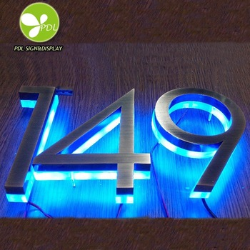High Luminous Indoor Led Hotel Room Number Sign
