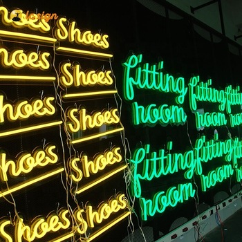 custom waterproof sign flexible neon led sign light with spelling words