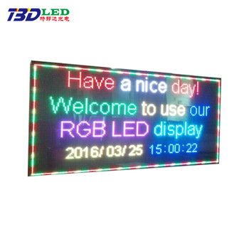 Indoor Full color Programmable LED Sign Display 10mm Ultra HD