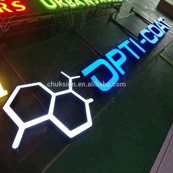 Custom commercial led hanging sign