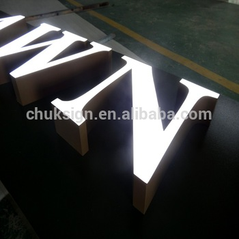 Custom made commercial advertising store front led sign