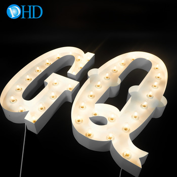 Wholesales waterproof alphabet led illuminated sign 4ft large letters free standing