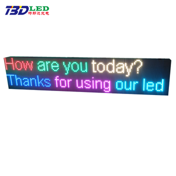Directly manufacturer top quality outdoor P10 led display sign ticker