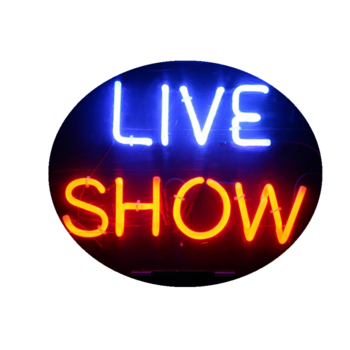 Handcraft live show neon sign Neon led open sign