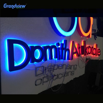 Decorative led illuminated  sign stainless steel lighted letter