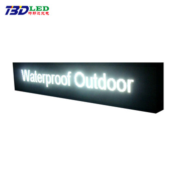 Shenzhen Factory price outdoor P10 white color led display panel double sided outdoor scrolling led sign