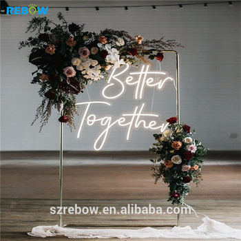 Rebow Factory Sell Outdoor Custom LED Flex Neon Sign China For Wedding Event Home Decoration