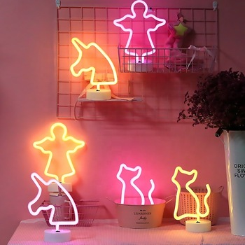 Rainbow Led Neon Light Sign Holiday Xmas Party Wedding Decorations Kids Room Home Decor led neon rope  light words sign