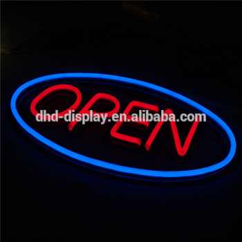Hot Sale Coffee LED NEON Open Sign Sample Letters Sign
