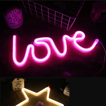 Love Neon Signs,Children Kids Gifts Neon table lamp(Pink Love) for Party Supplies