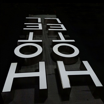 Factory Wholesale Frontlit Trim 3D Outdoor Illuminated Led Channel Letter Signs