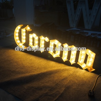 light up letters/battery powered led open signs marquee light letters led light letters