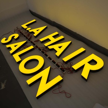 Front Letters Outdoor Led Light For Sign Board Hair Salon Sign Board led light letter