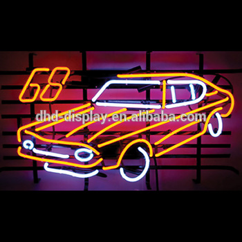 LED neon heart light moving car signs /signage