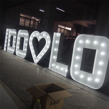 LED Light Up Marquee Bulb Letters