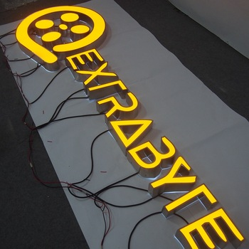 Professional enseigne lumineuse acrylic sign letter cheap plastic letters led logo back