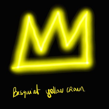 crown shape yellow color led neon decoration sign