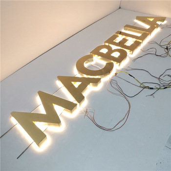 Commercial High Quality LED for Channel Letter Mirror Stainless Steel LED Backlit Marque Letter LED Sign