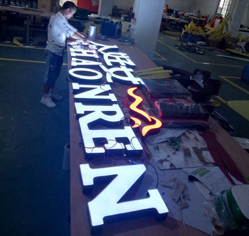 Advertising trend shop name board designs led sign light for building sign letters board
