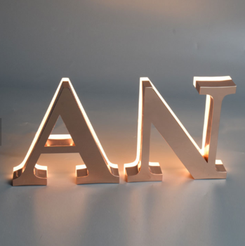Led Broad Letras Luminosas Massage Store Sign Signboard Steel Stainless Alphabet Letters