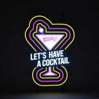 Cocktail Advertising Hanging Custom LED Neon Signs