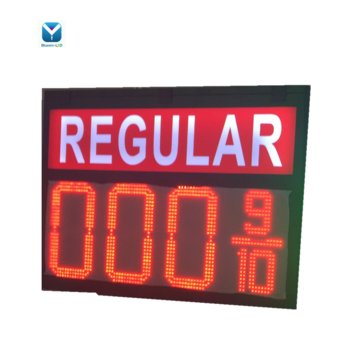 Red/Green/Blue/White 8.889 8.889/10 USA Digital Gas Station LED Fuel Price Sign Display Panel