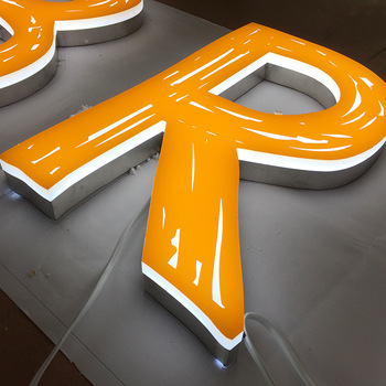 Alibaba china supplier brushed led stainless steel letter signs backlit room number open factory price