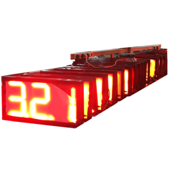 bluewin Factory Manufacture Outdoor 7 Segments LED Display8889/10 Red Electronic LED Price Sign