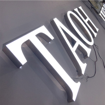 Advertising outdoor 3D front sign led letters For  Business Restaurant Store