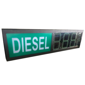 Digital Gas Price Sign 12 Inches Petrol LED Price Signs With Remote  WIFI PC Control Distributor