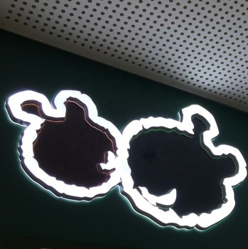 Advertising storefront custom made 3d logo led acrylic channel sign