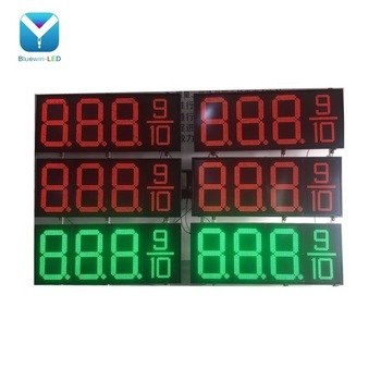 Double Sided 8888 8.889/10 Red Green White Gas Station Led Price Signs