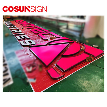 Customized Design Acrylic 3D Illuminated LED Channel Letter Sign with Mirror Stainless Steel Letter