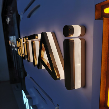 Wholesale retail available led waterproof wall mounted gold letter