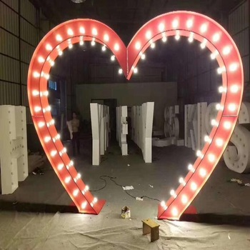 LED  Marquee illuminated Letters  Led Stainless steel bulb letter 3D Led logo sign