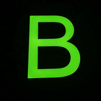 green face led channel letters face lit customised company led light signs