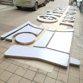 Customized frontlit letter sign 3d stainless steel cheap led channel letter signs