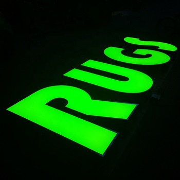 Excellent customized frontlit trim letters large led outdoor letters sign