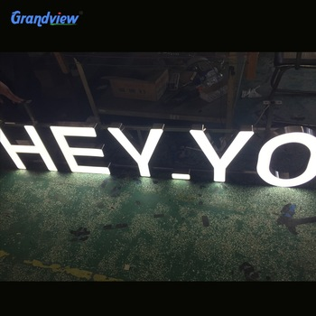 Customized decorative subway led sign in factory price