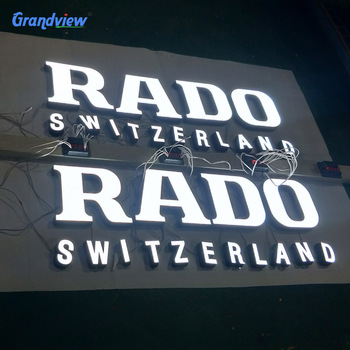 Custom led sign business signs outdoor epoxy letters